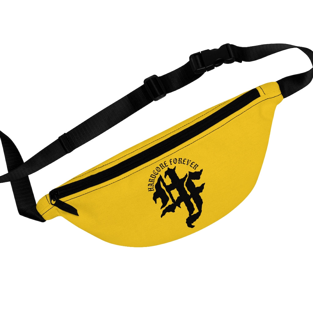 HF Text Yellow Fanny Pack