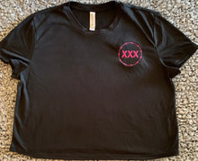 Load image into Gallery viewer, Straight Edge Pink Embroidered Crop Top