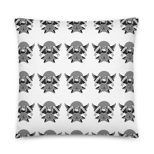 B&W Eagle Block Print Pillow