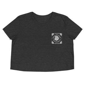 Hardcore Lady Embroidered Crop Tee