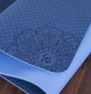 Lotus Print Double Layer Yoga Mat