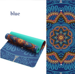 Load image into Gallery viewer, Lotus Pattern TPE Suede Yoga Mat