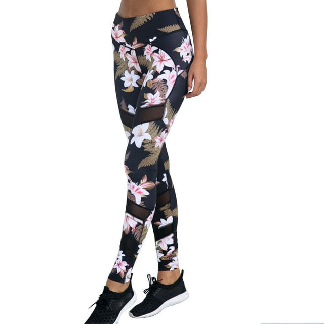 Floral Sports Fitness Yoga Pants - Yogaluga