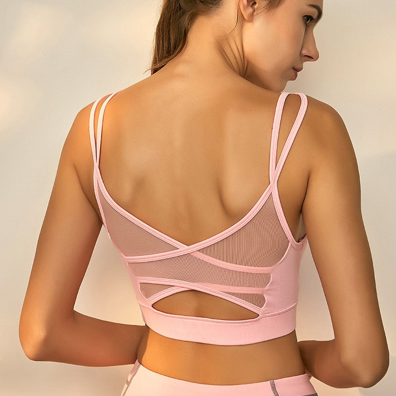 Breathable Mesh Fitness Women Yoga Tops - Yogaluga