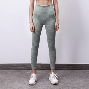Camouflage Seamless Leggings Yoga Pants - Yogaluga