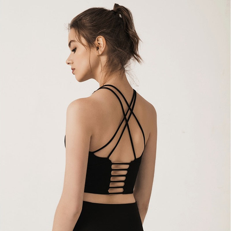 Light Support Strappy Yoga Top - Yogaluga