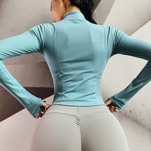 Long Sleeve Autumn Jacket Yoga Top - Yogaluga