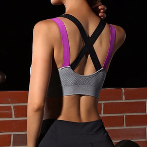 Fitness Athletic Vest Running Yoga Bra Push Up - Yogaluga