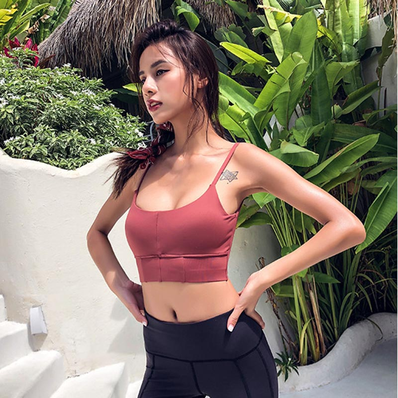 Thin Strap Low Cut Yoga Tops - yogaluga