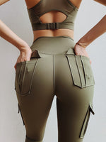 Load image into Gallery viewer, High Waist Leggings with Pockets Yoga Pants - Yogaluga