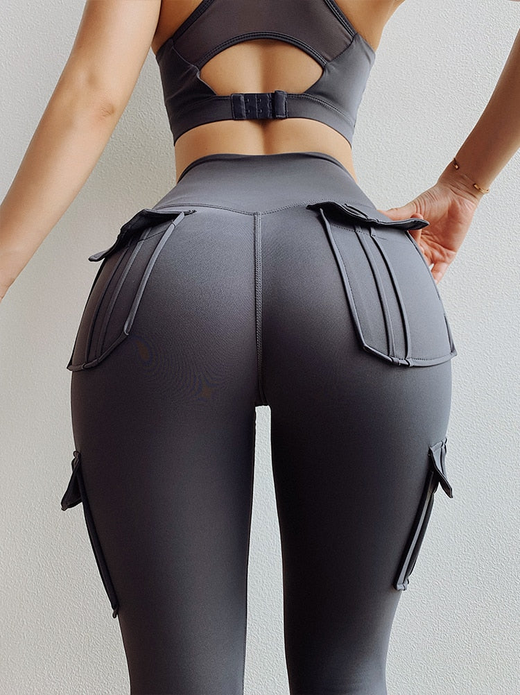High Waist Leggings with Pockets Yoga Pants - Yogaluga