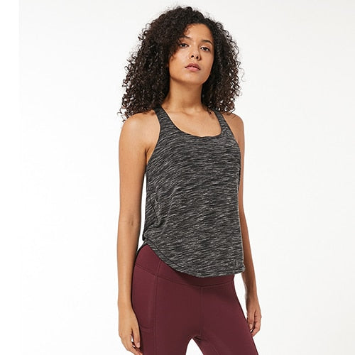 Curved Hem Sports Tank Yoga Top - Yogaluga