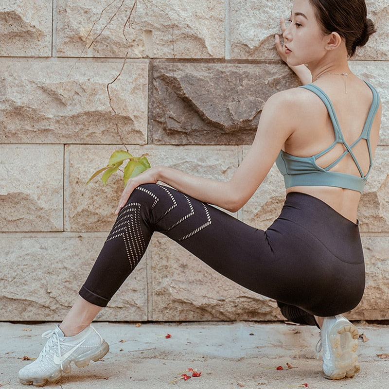 Power Flex Workout Mesh Yoga Leggings - Yogaluga