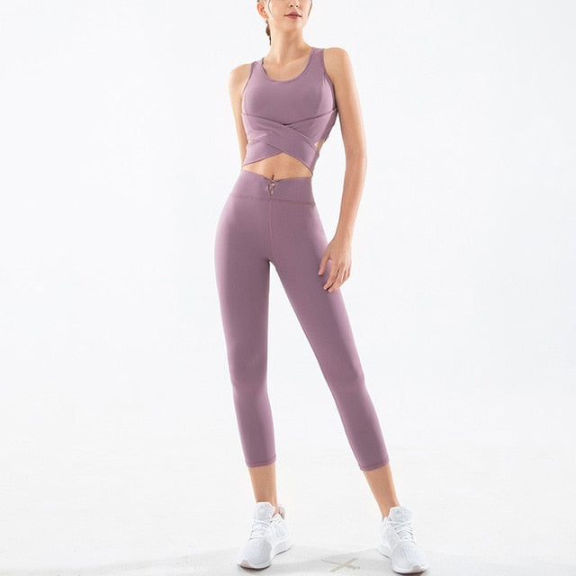Seamless Fitness Yoga Suit & Gym Set - Yogaluga