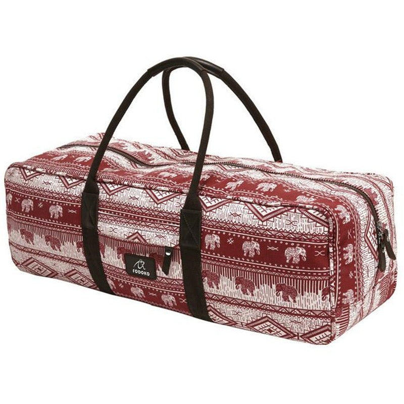 Red Elephants Large Yoga Mat Bag - Yogaluga