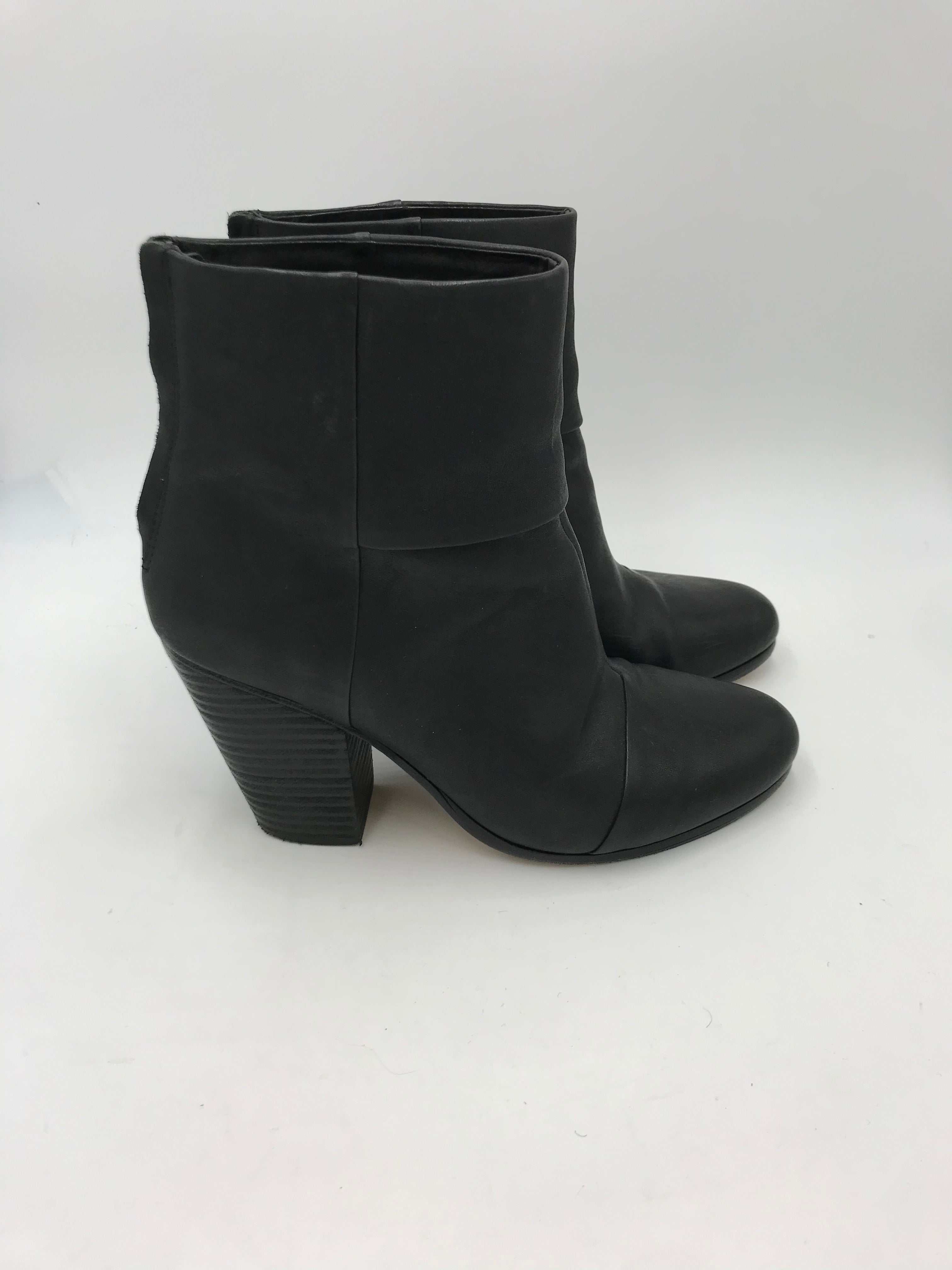 rag & bone Black Leather Booties