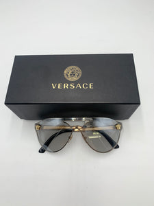 Versace clear oversized sunglasses