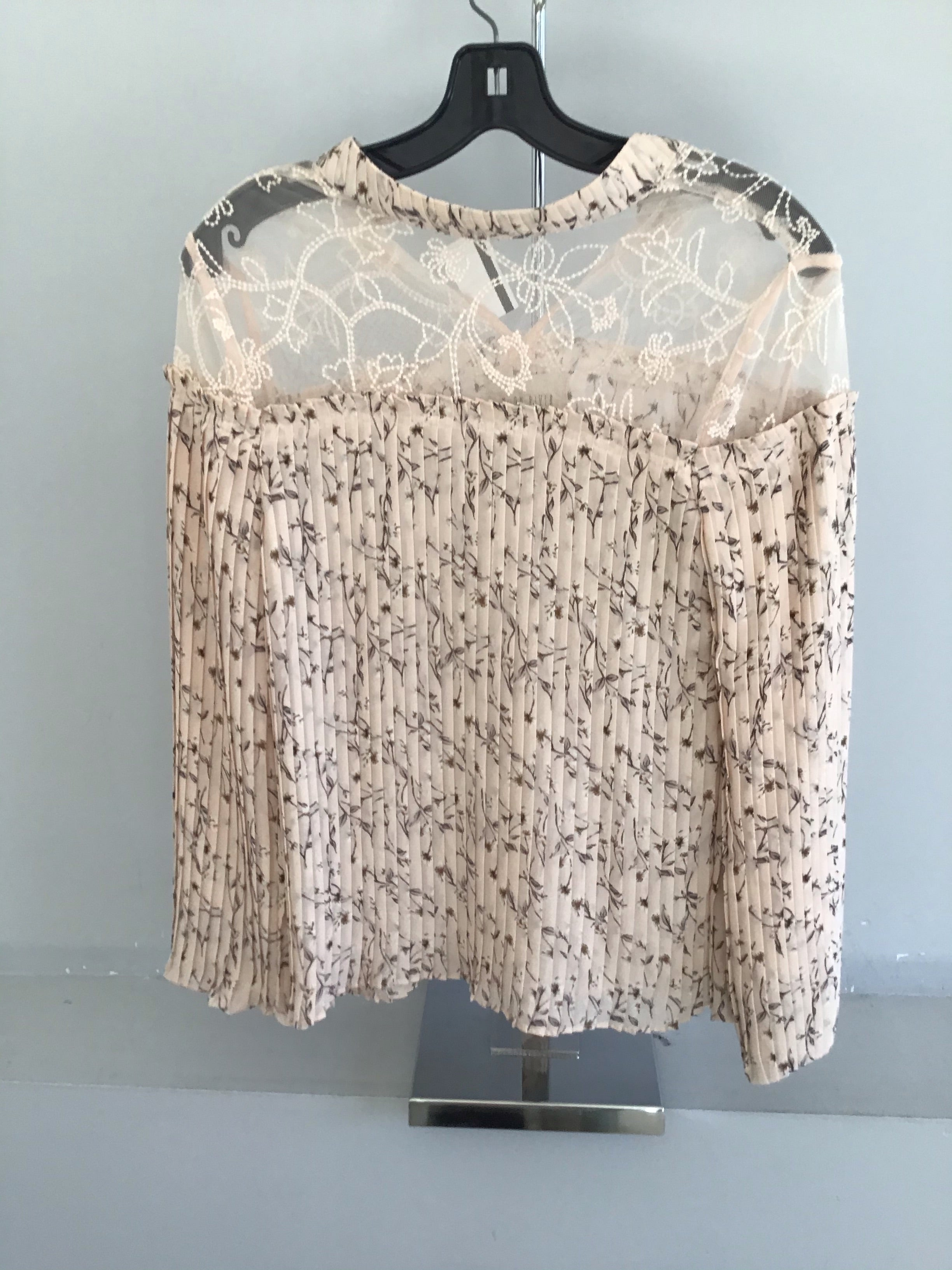 Moon River Floral Pleated Top