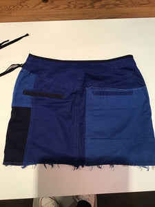 Zadig&Voltaire Blue cotton patch work layer skirt
