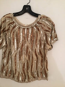 Vintage sequins glamour top