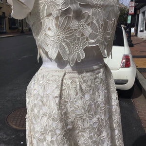 Ted Baker floral white lace dress