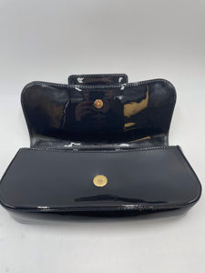 Louis Vuitton Navy Sobe Patent Leather Clutch