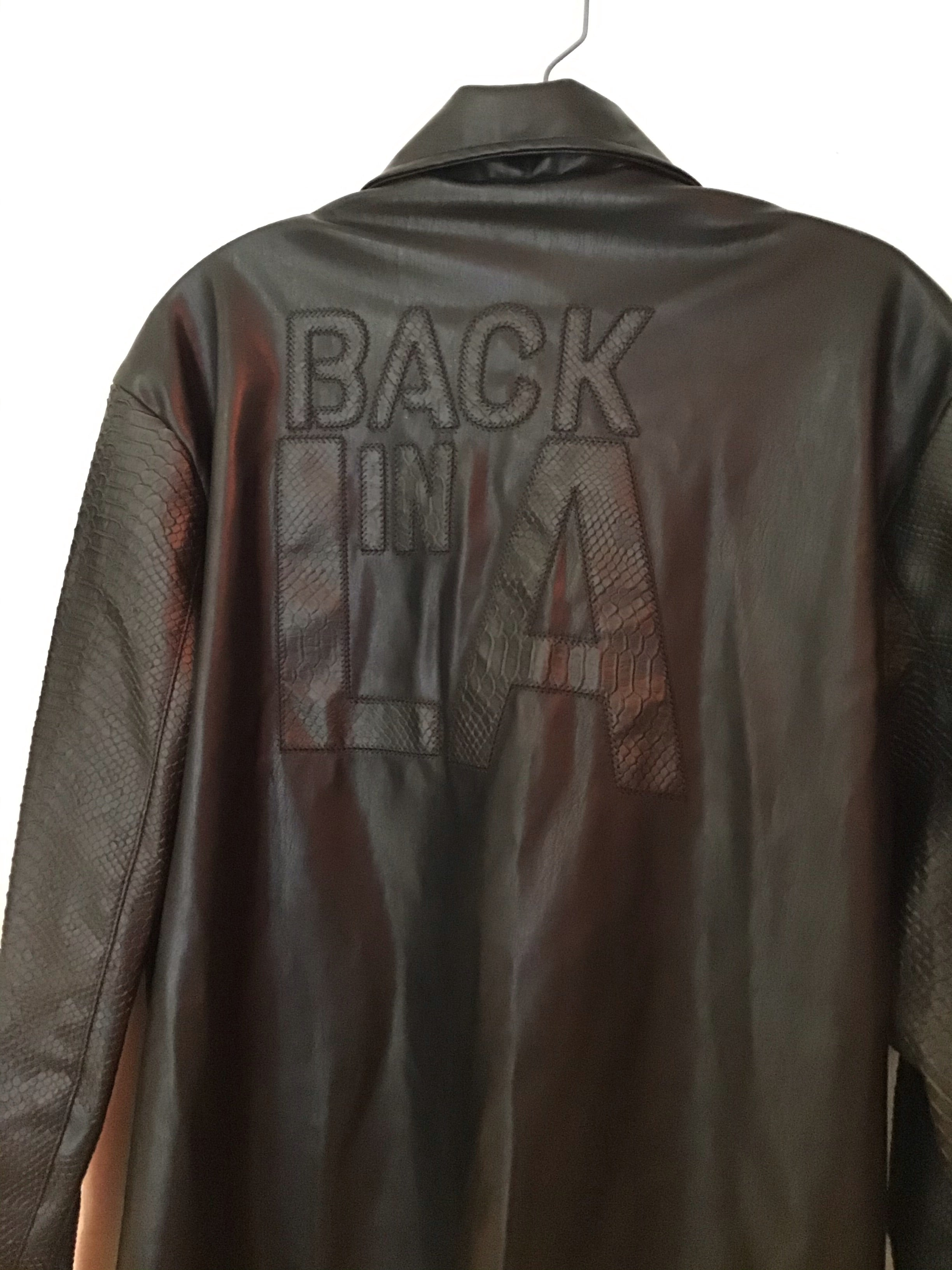 "Ron Thomas capsule "" Back In La"" faux leather jacket"