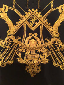 Versace Black and Gold Baroque Sweater
