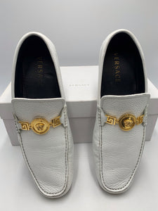 Versace Men's White Loafers