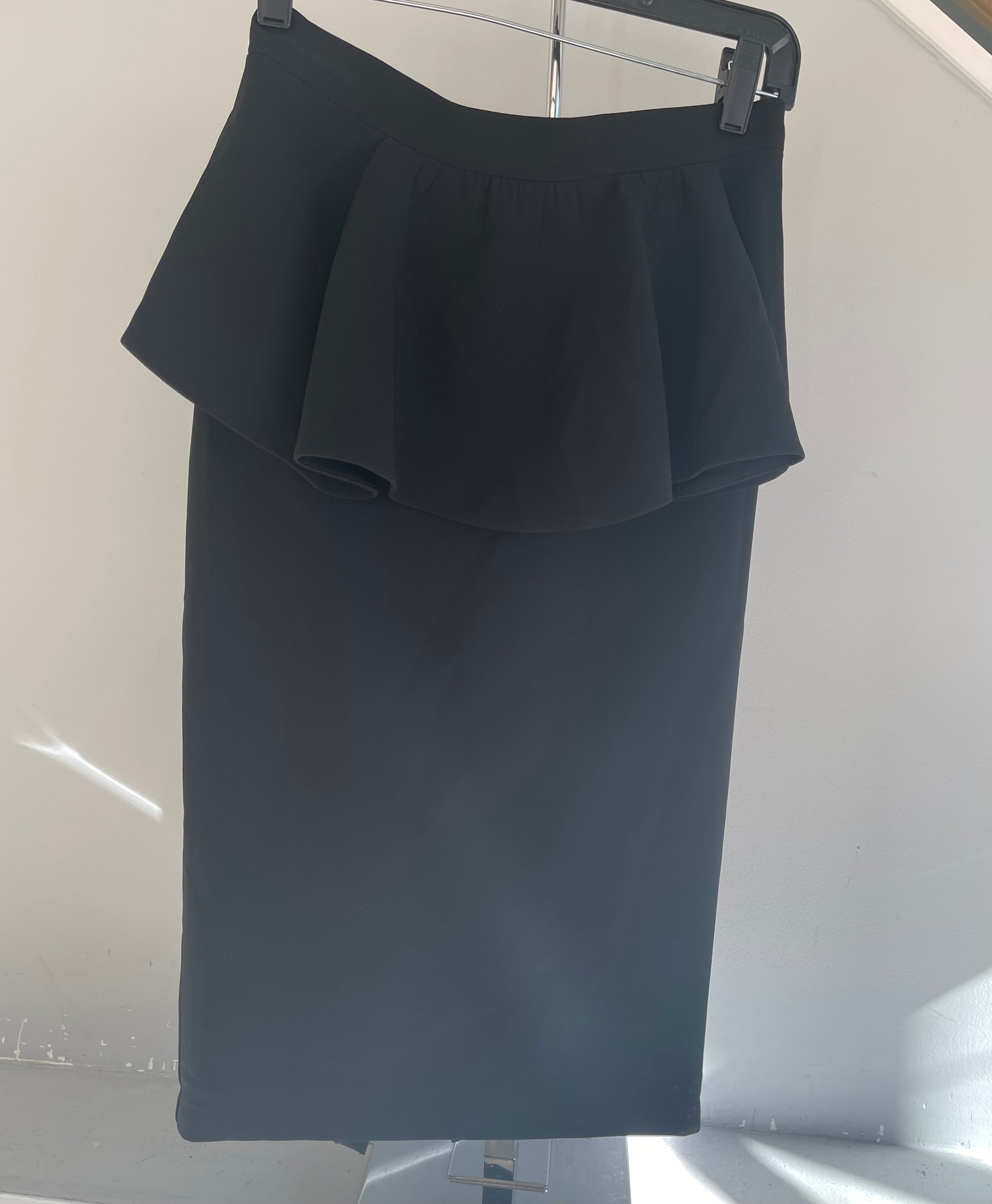 St.John Pencil Skirt With Flowy Top Layer