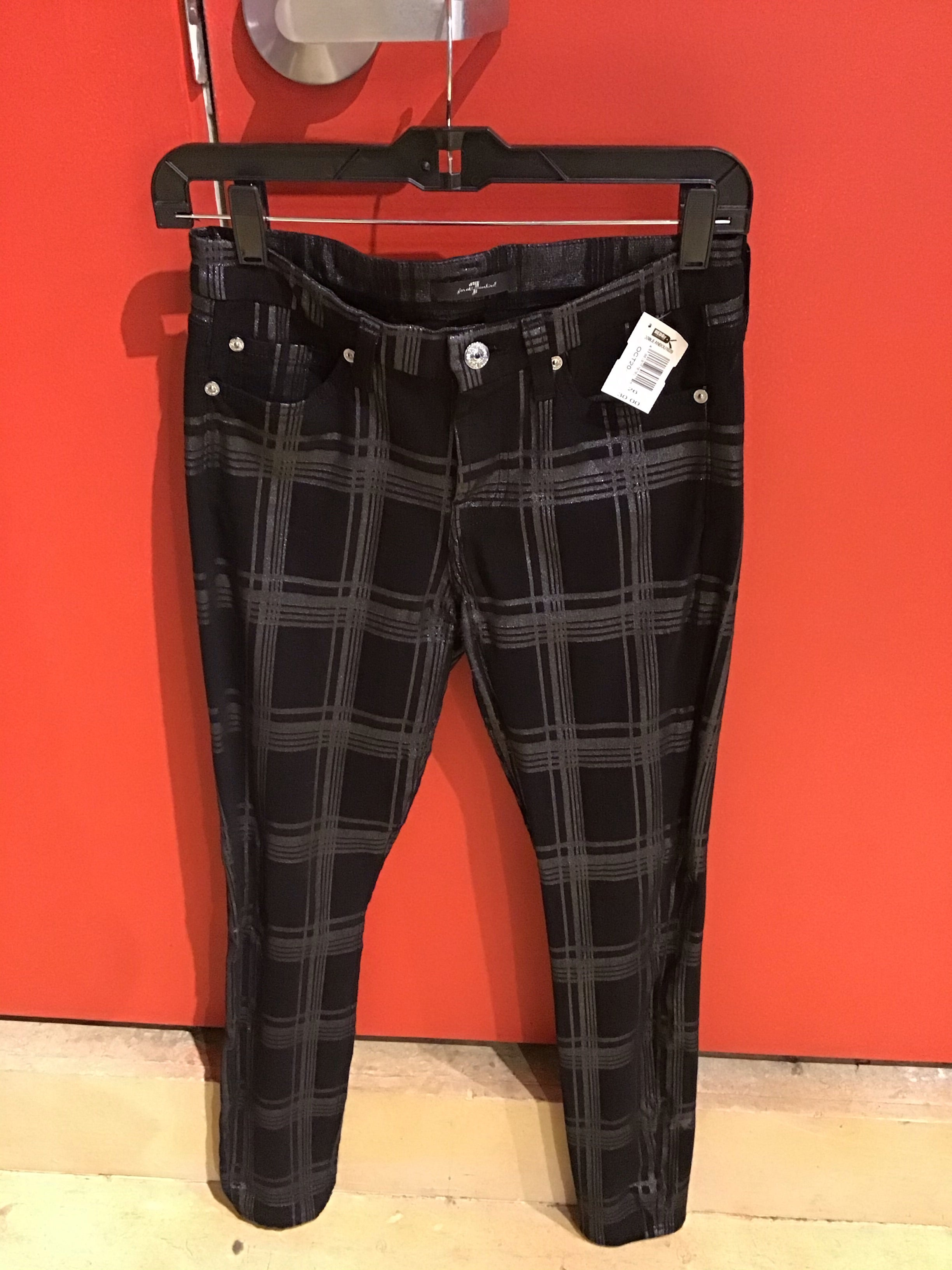 Seven For All Mankind Glitter Checkered Pants- Size 26
