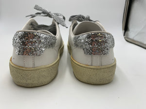 Saint Laurent Glitter Distressed low top sneakers