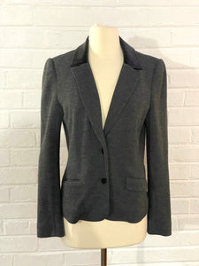 Tory Burch Leather Collar Blazer
