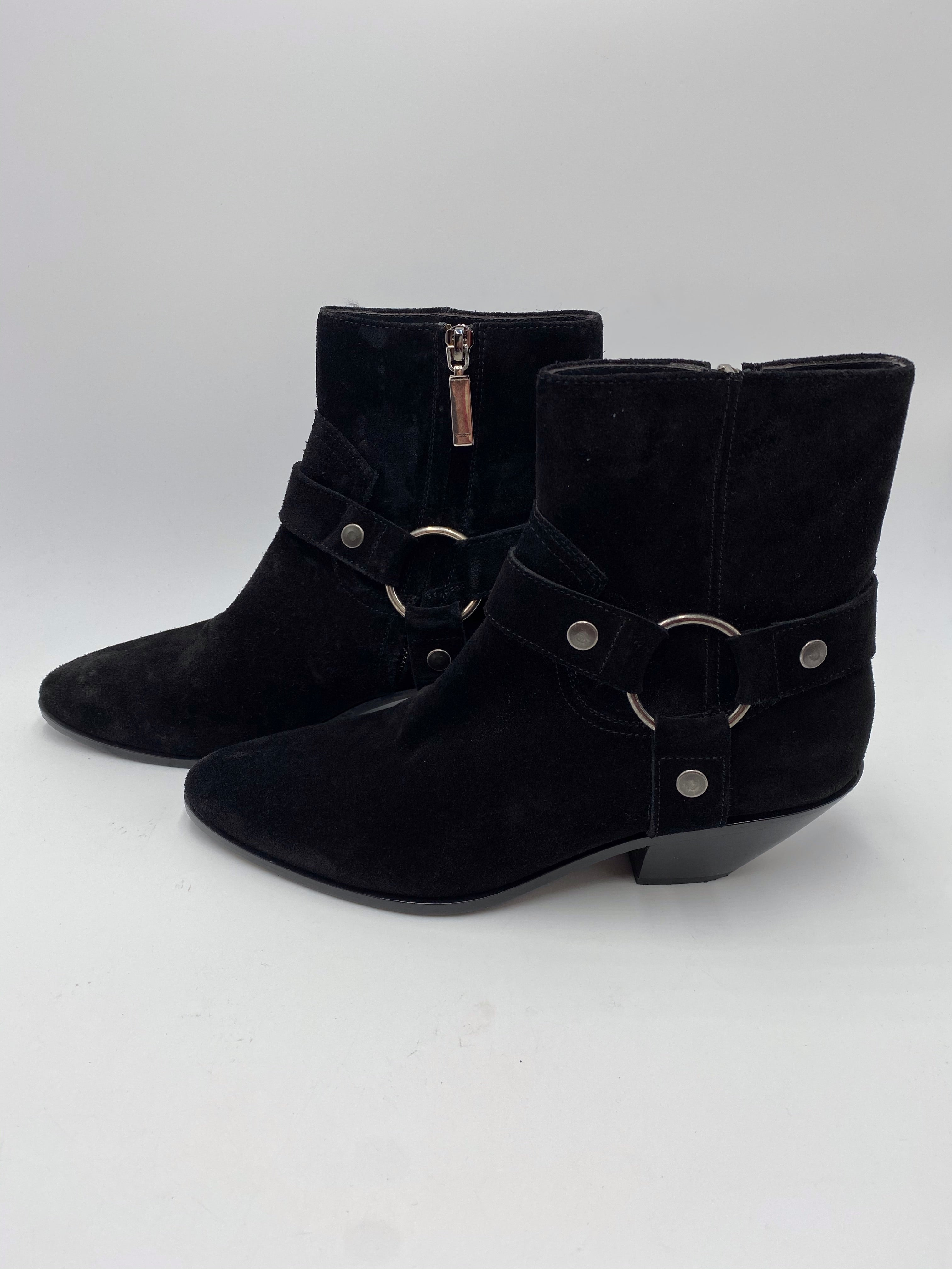 Saint Laurent Suede Ankle Booties Size 38