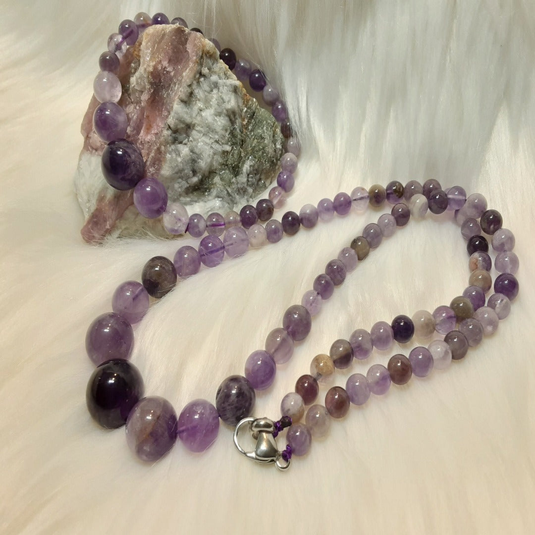 Amethyst Bracelet & Necklace Set