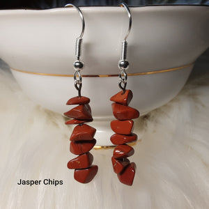 Jasper Chip Earrings