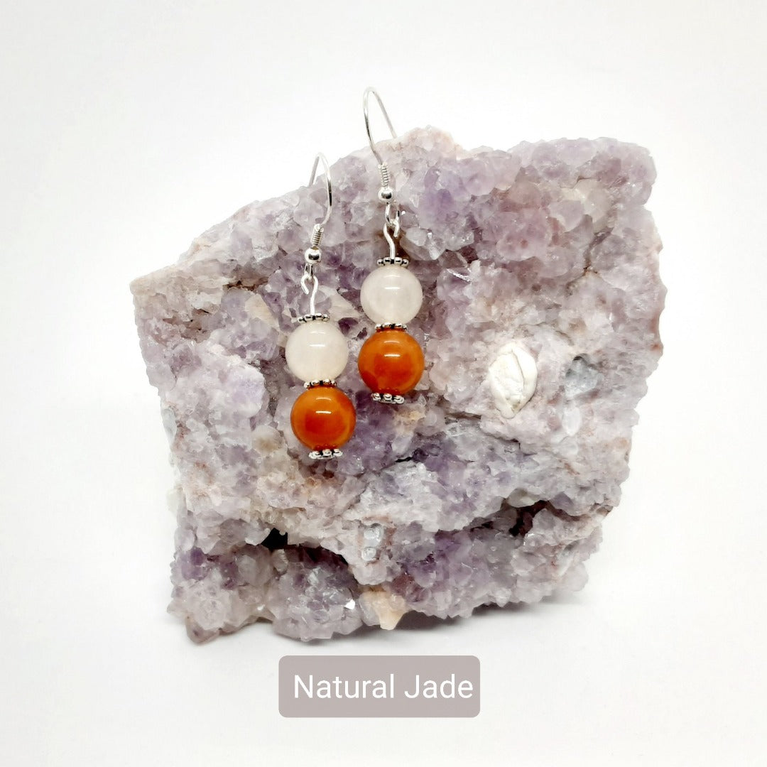 Natural Jade Earrings