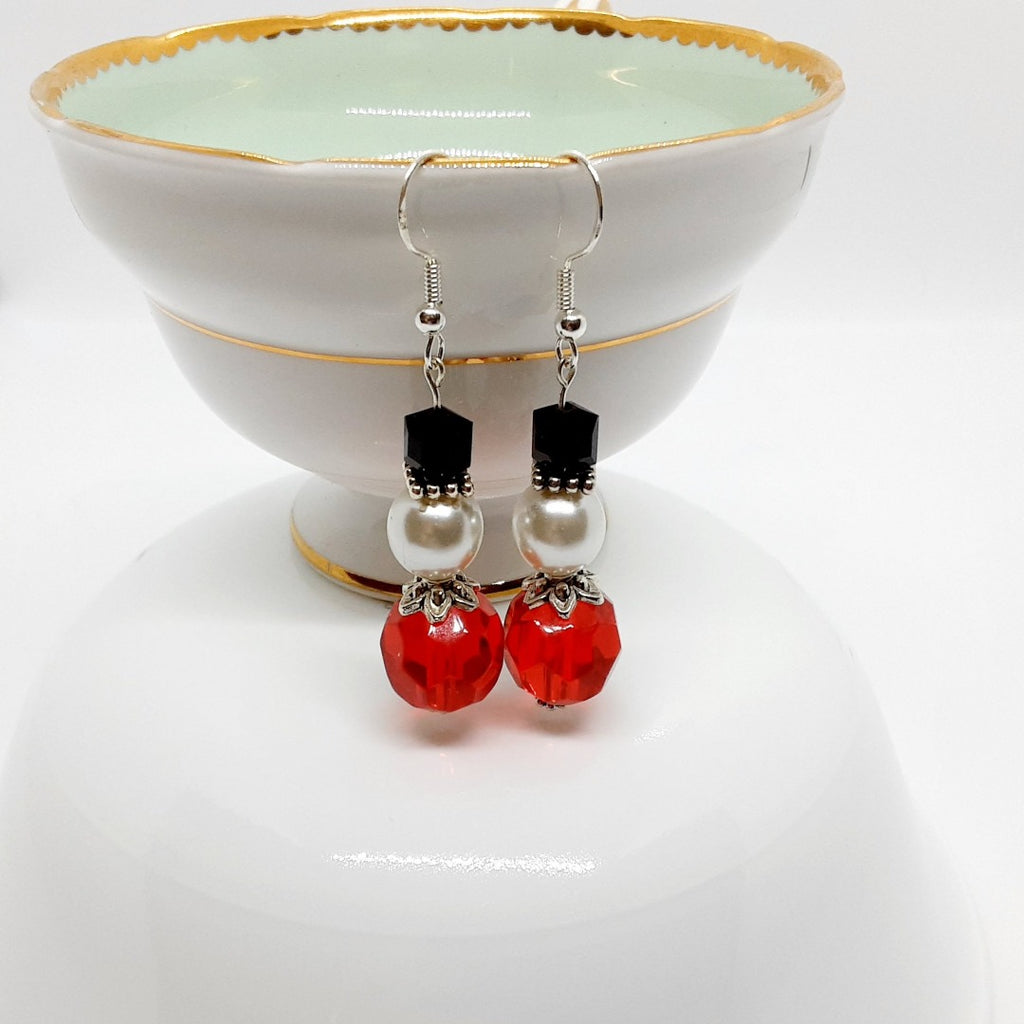 Seasonal Snowman Earrings