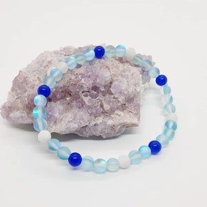 Anklet -mermaid anklet made from synthetic moonstone