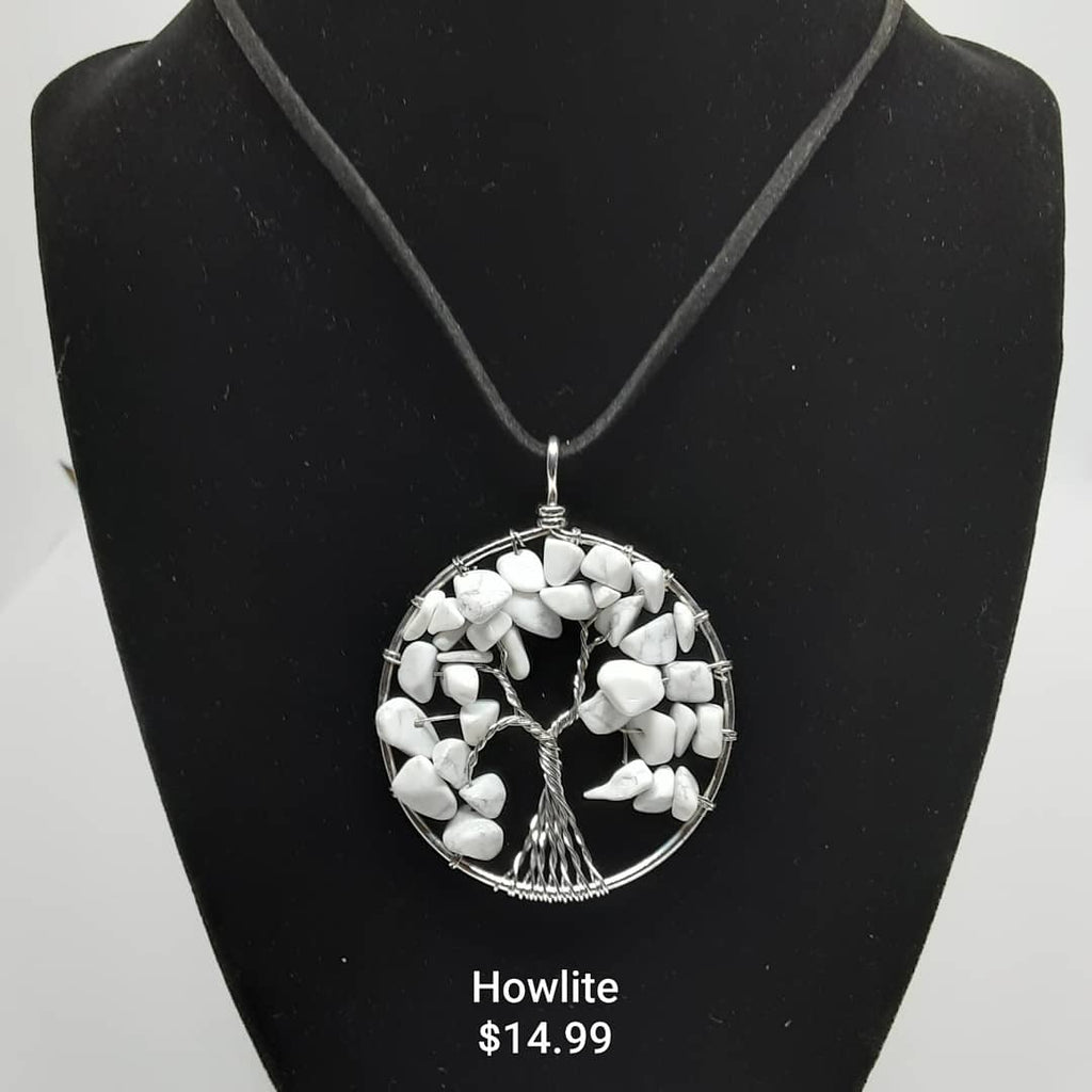 Howlite Tree of Life Necklace
