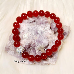 Jade Bracelet -Dyed July Birthstone