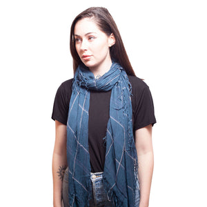 Tissue Square Scarf in J Blue