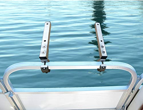 Brocraft Pontoon Grill Bracket/Boat Rail Mount Grill Bracket/BBQ Dual Extended Horizontal Rail Mounts