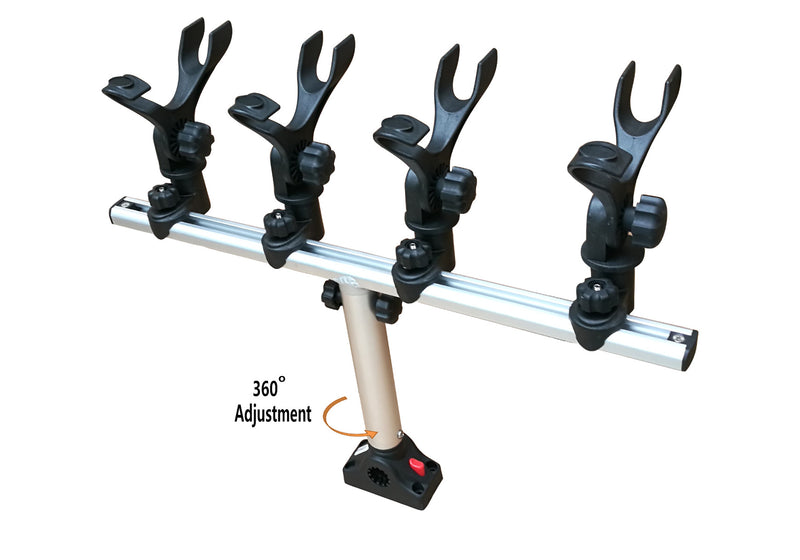 Brocraft Crappie Rod Holder System with Deck/Side Mount