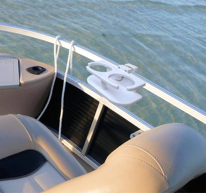 Brocraft Pontoon Boat Drinks Holder/Pontoon Boat Cup Holder/Square Rail Cup Holder