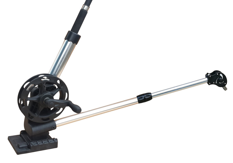 Brocraft Troll Manual Downrigger with Telescopic Boom