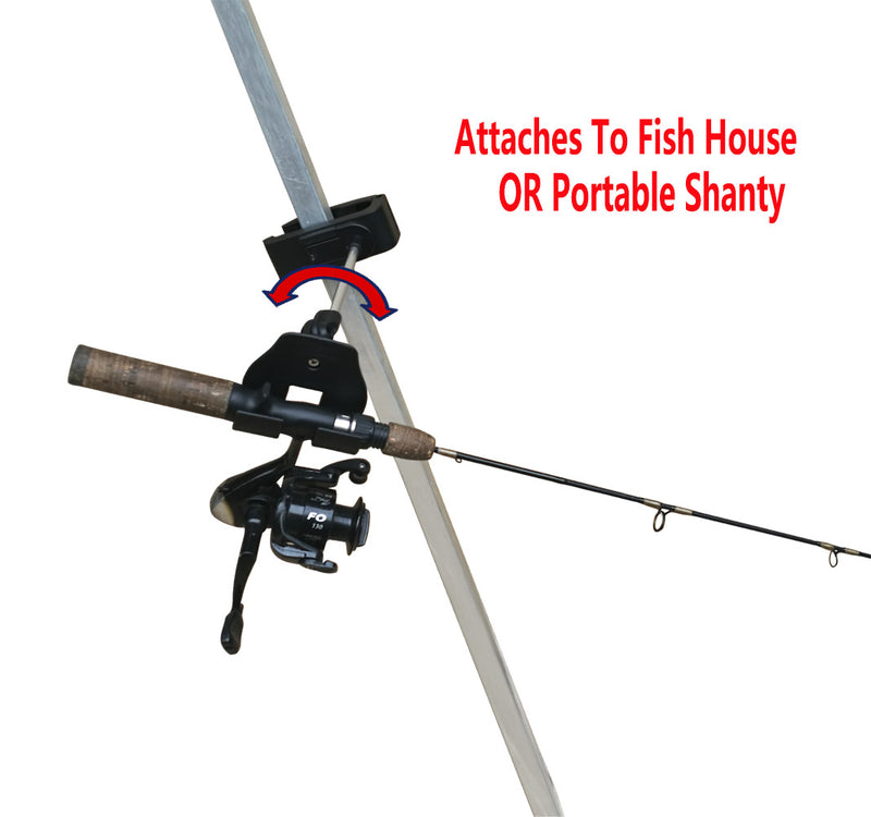 Brocraft Ice Fishing Bucket Rod Holder/Ice Fishing House shanty tip Down/ice Fishing Rod Holder
