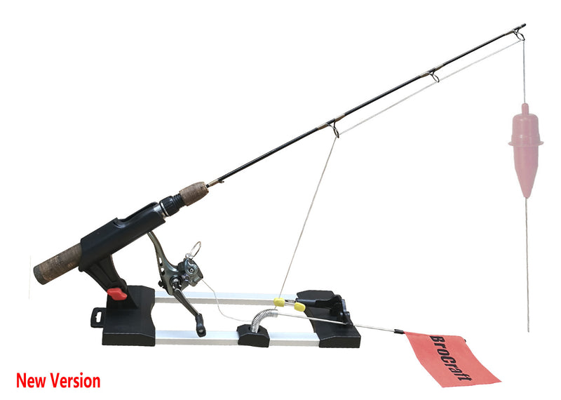 Brocraft Ice Fishing Tip-Ups/Ice Fishing Rod Holder/Ice Fishing Tip Down/Ice Fishing Rigger