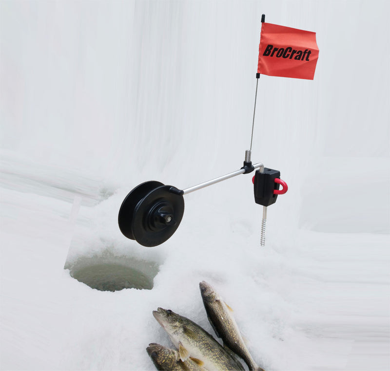 Brocraft Ice Fishing Screw Anchor Rattle Reel System/Ice Fishing ice Anchor Tip- up System