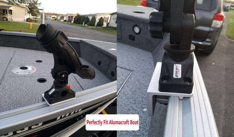 Brocraft Alumacraft Boat Rod Holder Mount/AlumaTrac Bracket